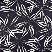 RESTSTÜCK 147 cm Viskose Leinen Webware abstrakte Blumen, schwarz