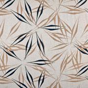 Viskose Leinen Webware abstrakte Blumen, natur