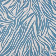 Viskose Leinen Webware Zebra Muster Animal Print, hellblau natur