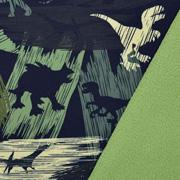 Softshellstoff Jackenstoff Dinos, dunkelgrün