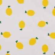 Baumwollstoff Zitronen, gelb weiß