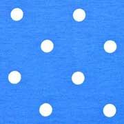 Jerseystoff Punkte 1 cm, weiß himmelblau