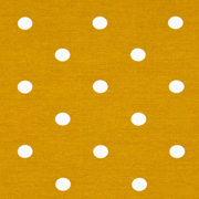 Jerseystoff Punkte 1 cm, weiß ockergelb