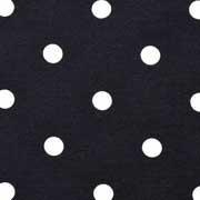 Jerseystoff Punkte 1 cm, weiß schwarz