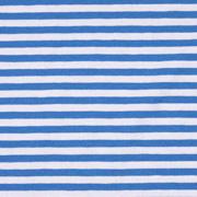 Jersey Streifen 5 mm Garn gefärbt, himmelblau weiß