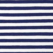 Jerseystoff Streifen 5 mm, dunkelblau weiß