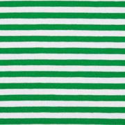 Jersey Streifen 5 mm Garn gefärbt, grün weiß