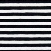 Jerseystoff Streifen 5 mm, schwarz weiß