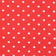 Jerseystoff kleine Punkte, weiss rot