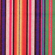 Mexiko Stoff Ethno Look bunte Streifen, gelb lila grün