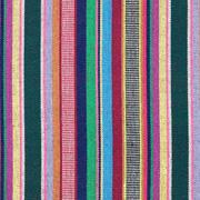 Mexiko Stoff Ethno Look bunte Streifen, blau dunkelgrün beere