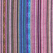 Mexiko Stoff Ethno Look bunte Streifen, blau rosa
