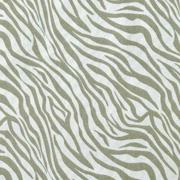 Baumwollstoff Zebra Muster Animal Print, khakigrün hellgrau