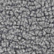 Boucle Stoff Lammfell Optik, grau meliert