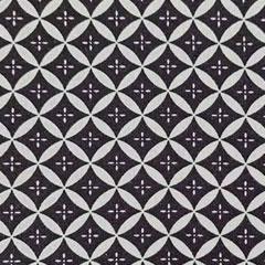 Viskose Jerseystoff Ovale Rauten, weiß schwarz