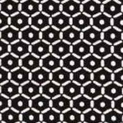 Viskose Jerseystoff Sechseck Punkte,schwarz weiß