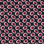 Viskose Jerseystoff grafisches Muster, weinrot ecrue schwarz