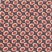Viskose Jerseystoff grafisches Muster, rostbraun hellbeige braun