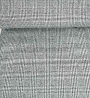 Jacquard Strickstoff Glencheck, schwarz weiß