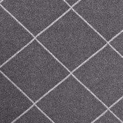 Jacquardjersey Strickstoff Rauten Gitternetz, cremeweiß dunkeltaupe
