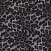 Hosenstretch Stoff Bengalin Leopardenmuster, grau schwarz