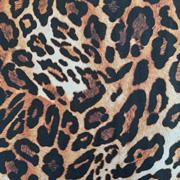 Viskose Stoff Leopardenmuster, rostbraun schwarz