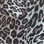 Viskose Stoff Leopardenmuster, grau schwarz