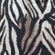 Viskose Stoff Zebra Muster Animal Print, ecrue braun schwarz