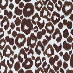 Jerseystoff Leopardenmuster Ikat, braun cremeweiß