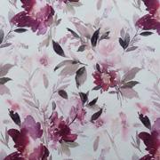 Jerseystoff Blumenmuster Digitaldruck, beere rosa cremeweiß
