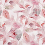 Jerseystoff Blätter, dunkelrot rosa weiß