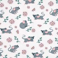 Jerseystoff Mäuse Zweige, grau altrosa cremeweiß