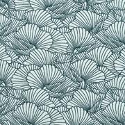 Jerseystoff Blumen, schwarz mintgrün