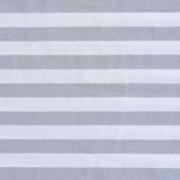 Jerseystoff Streifen 1 cm, hellgrau weiß