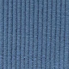 Bündchenstoff gerippt Hipster-Beanie Stoff,jeansblau