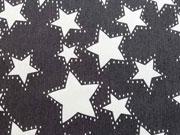 RESTSTÜCK 130 cm Stretchjeans Sterne, anthrazit