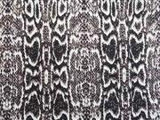 Stretchjeans Schlangen Muster- taupe /schwarz