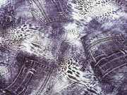Viskosejersey Animal Print & Jeans, jeansblau