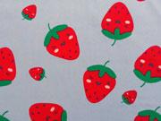 Reststück 75cm BW große Erdbeeren, hellgrau