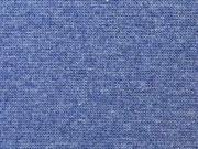 glattes Bündchen, jeansblau melange (Lilastich)