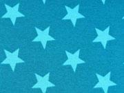 Alpenfleece Sterne 2,8 cm - mint auf petrol