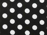 beschichtete Baumwolle Punkte 7mm, weiß schwarz