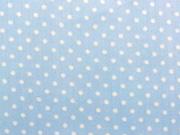 RESTSTÜCK 103 cm beschichteter Baumwollstoff 2mm Punkte, hellblau