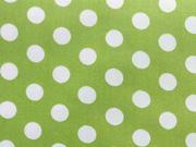 RESTSTÜCK 58 cm beschichtete BW Punkte weiss grün