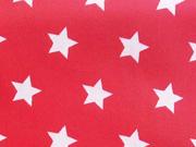 RESTSTÜCK 76 cm beschichtete BW Sterne rot