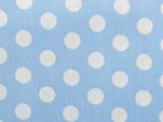 RESTSTÜCK 89 cm beschichtete BW Punkte hellblau