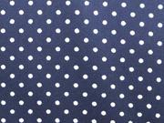 RESTSTÜCK 77 cm beschichtete BW Punkte dunkelblau