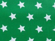 RESTSTÜCK 72 cm beschichtete BW Sterne grasgrün