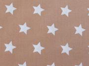 beschichtete BW Sterne 1,5 cm auf beige