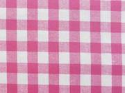 RESTSTÜCK 39 cm beschichtete BW Karo - pink weiß